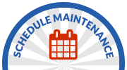 footer schedule maintenance button